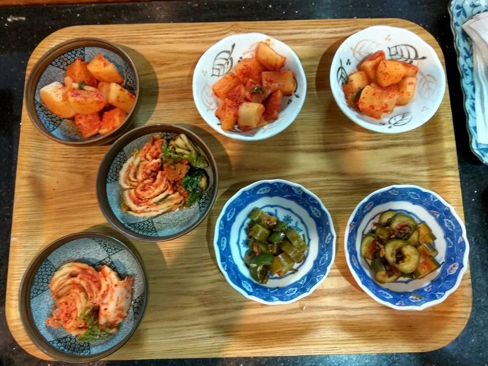 Kimchi, Pickled Radish, Picled Cucumber