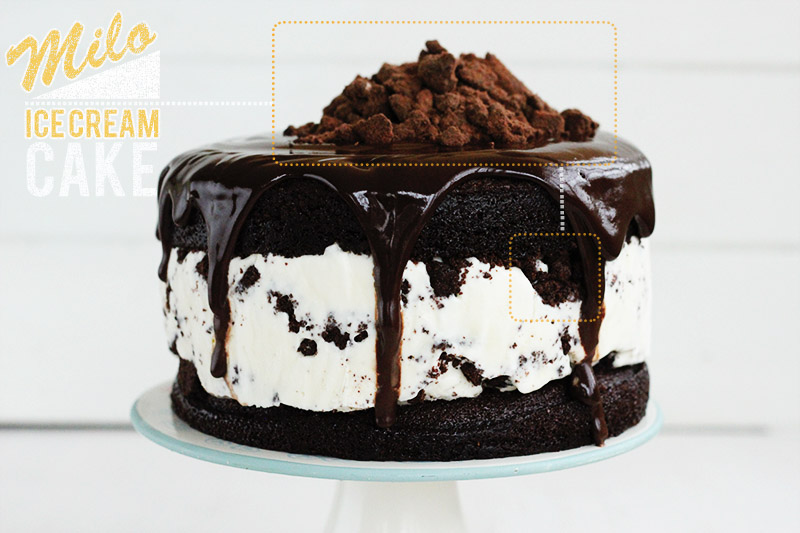 Milo Ice Cream Cake by  Sarah Coates of the SugarHit.com