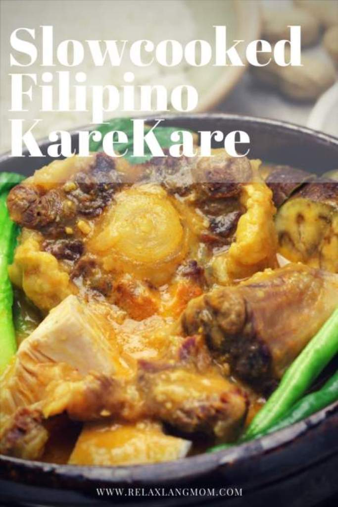 Slow cooked Kare Kare Recipe Mama Sita - Relax lang Mom Filipino Food Blog and Recipe