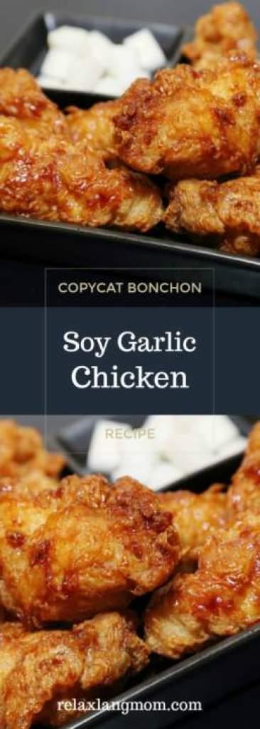 Bonchon Soy Garlic Chicken Recipe (Fried Chicken photo for Pinterest) -Relaxlangmom Filipino Food Blog
