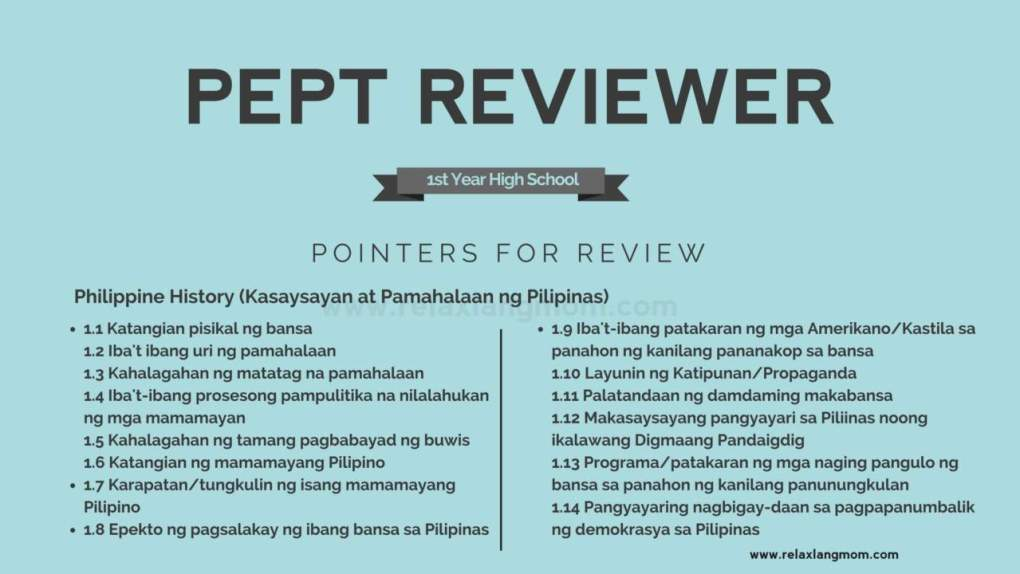 pept test and pept reviewer (social studies)