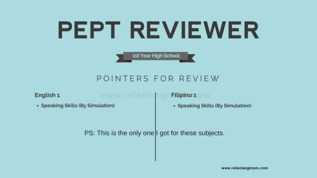 pept test and pept reviewer (english and filipino subjects)