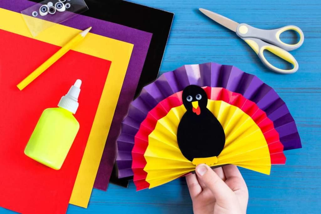 Step 8. glue together all elements of souvenir turkey