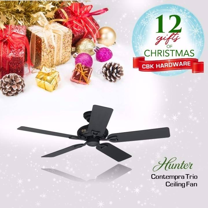 Give a housewarming and Holiday gift at the same time. Hunter fans are durable, inside and out making it the best gift option for loved ones.  Available in leading hardware stores nationwide or order online at www.cbkhardware.com   #cbkhardware #hardwareph #homeimprovement