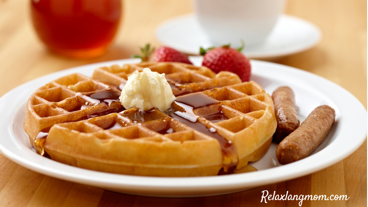 Easy Waffles Using Pancake Mix Relaxlangmom Image