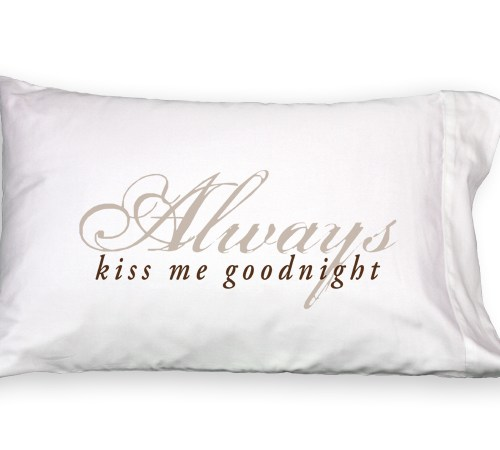 Faceplant Dreams Always Kiss Me Goodnight Pillowcase