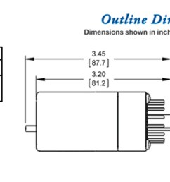 250 series ge replacement special purpose relays dimensions wiring diagram [ 1429 x 600 Pixel ]