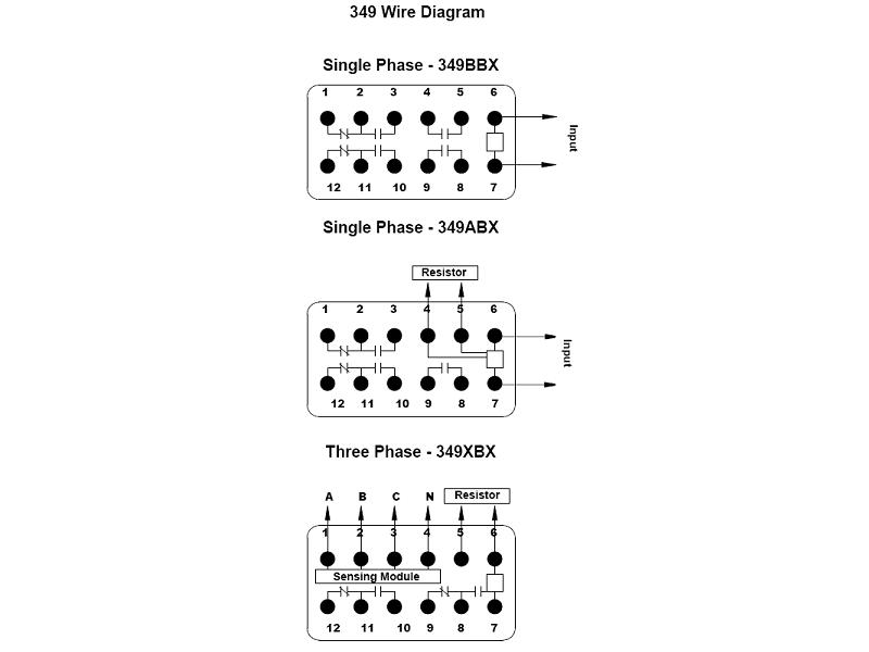wiring diagram for timer relays