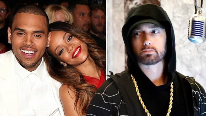 Eminem apologizes to Rihanna for supporting Chris Brown