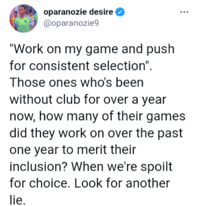 Desire Oparanozie Hits On NFF
