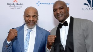 Mike Tyson, Boxing Legends, Mike Tyson, 54, and Evander Holyfield, 58, 'in talks over a £200m trilogy fight in Dubai', Relay Vibes