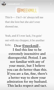 Meek Mill,Vanessa Bryant,rapper meek mill,vanessa bryant wiki, Meek Mill Shows Remorse Over Disrespectful Lyrics On Vanessa Bryant Late Husband- Kobe, Relay Vibes