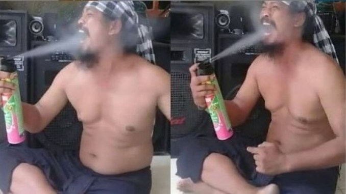 Guru who went viral for spraying insecticide into his mouth is dead