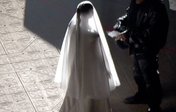 Kim Kardashian appears in wedding dress and veil for Kanye's Donda event