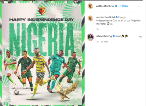 Watford Celebrate Nigeria on her 61st Independence Day, Watford Celebrate Nigeria on her 61st Independence Day, Relay Vibes