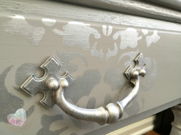 Stenciled drawer details