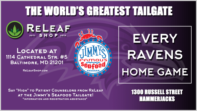 Raven's Tailgate at Jimmy's Famous Seafood Tailgate party