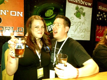 Newest member of the Slumbrew family, @slumbrewadam, and his lovely wife @pinkshoes.