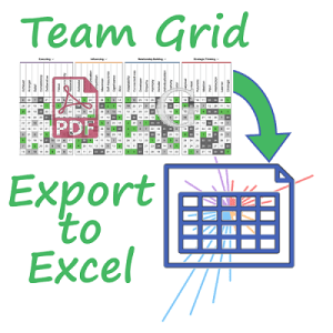 Gallup Access export team grid PDF Cascade spreadsheet