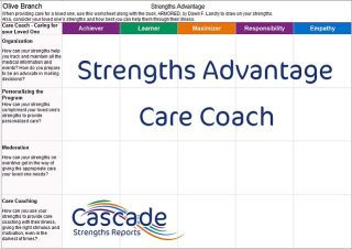 Cascade Strengths Advantage Care Coach for loved one