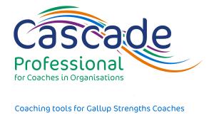 Cascade Professional coaching tools