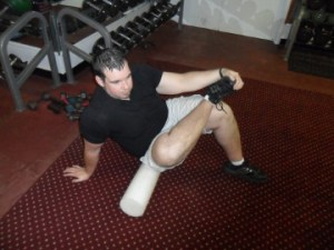 soft tissue release of glute with foam roller