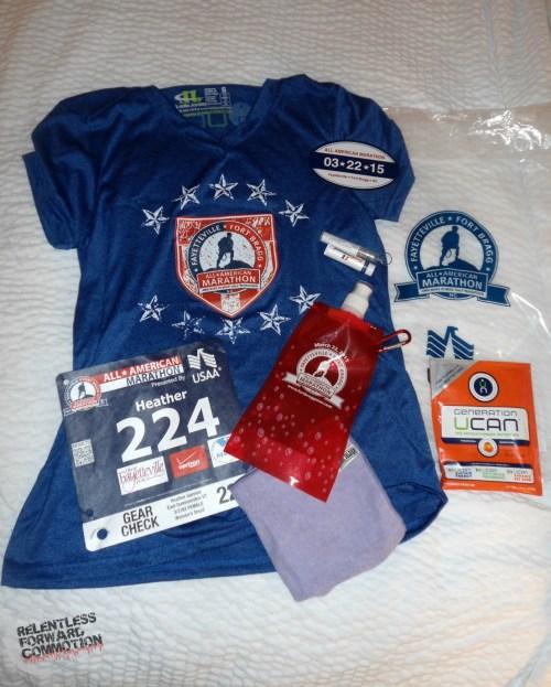 All American Marathon Swag
