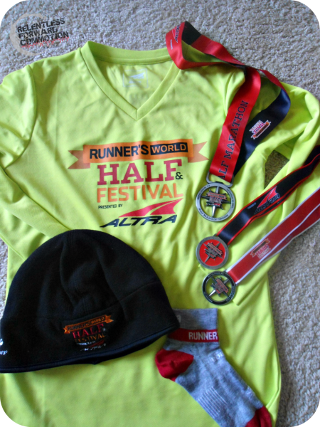 Runner's World Half and Festival Hat Trick Swag