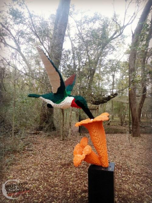 Lego hummingbird Brookgreen Gardens