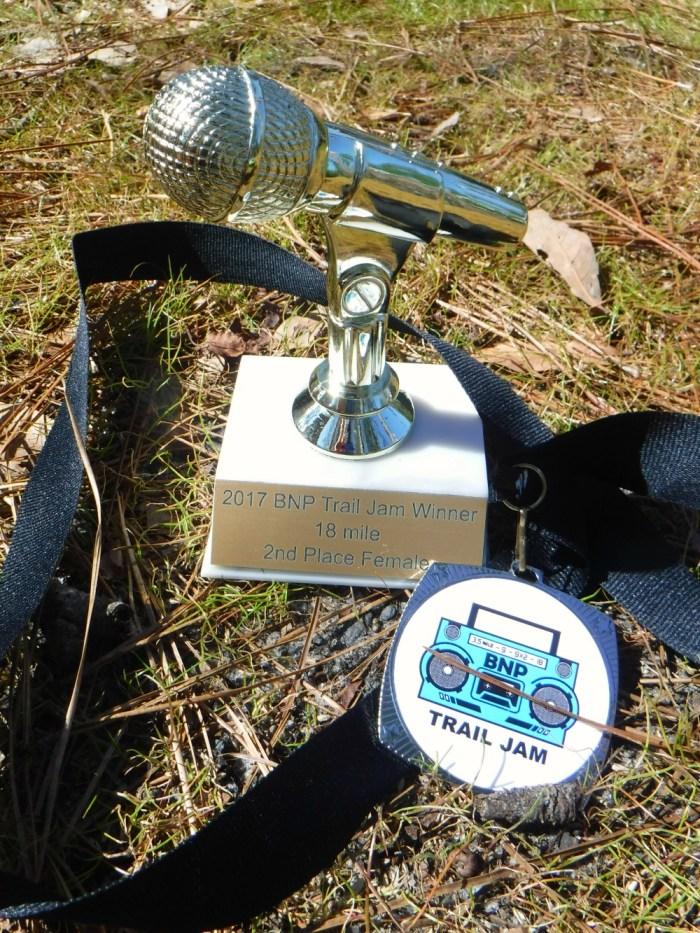 BNP Trail Jam medal