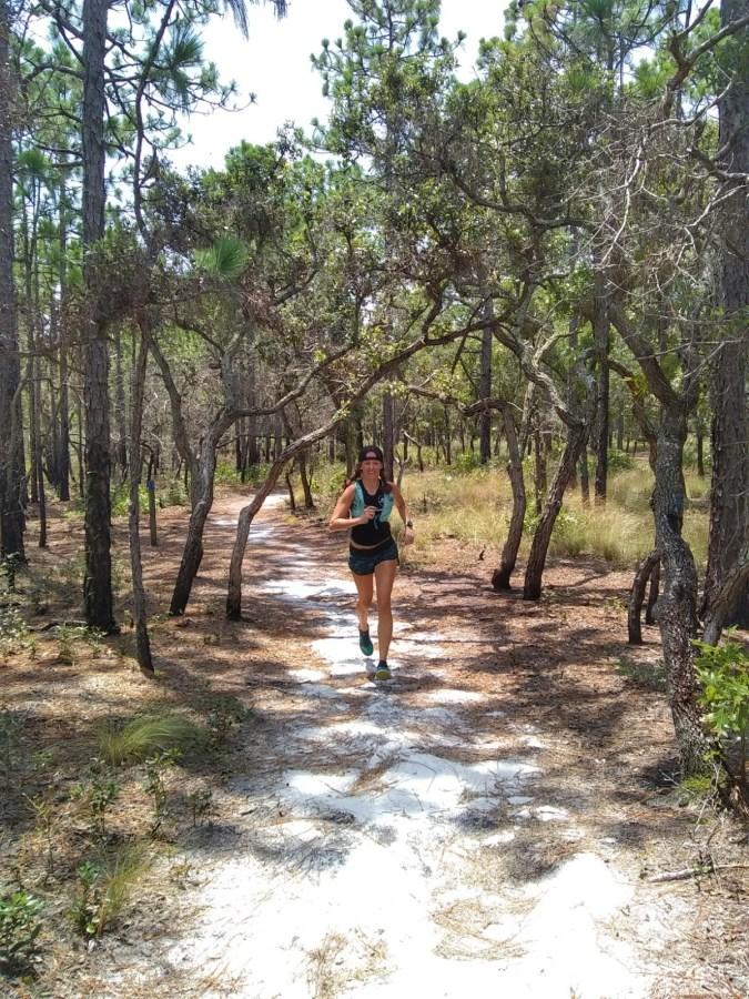 Running at Carolina Beach State Park