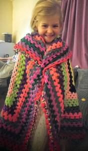 Eva loves her blanket