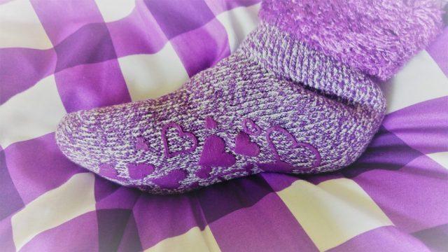 Ladies Purple Heat Holders Lounge Socks