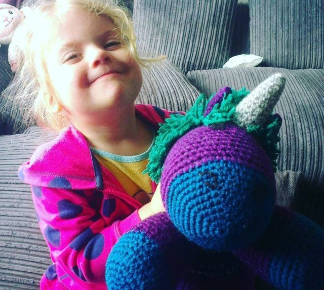 lovely new crocheted unicorn friend