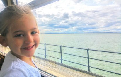 Enjoying Southend Pier Railway