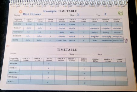 Role Play Teacher Pack - Timetable