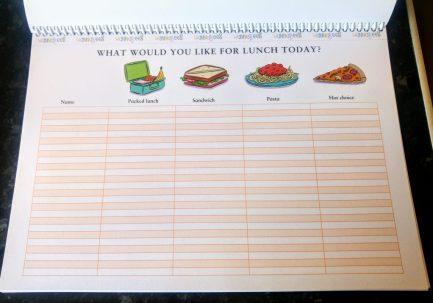 Role Play Teacher Pack - Lunch List