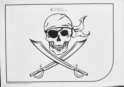 ichild skull pirate flag printout