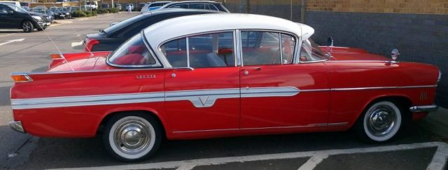 Red Vauxhall Cresta PA