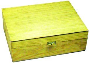 Small Trinket Box in Honey Pine Finish
