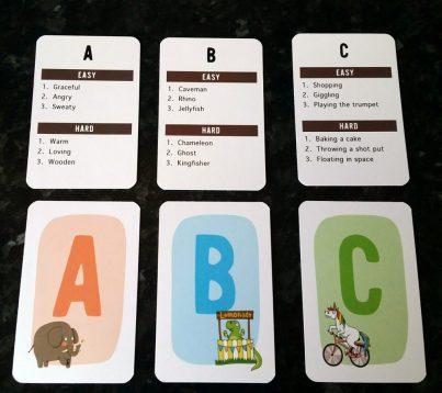 Cards A, B & C