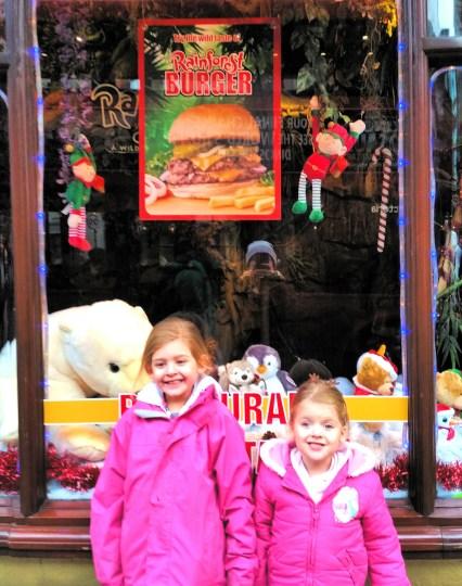 Visiting Santa at Rainforest Cafe