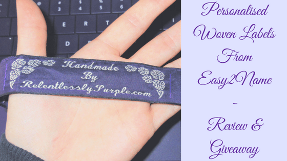 Personalised Woven Labels - Review & Giveaway