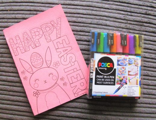 Mrs Mactivity Easter Card Printable & Posca Pens