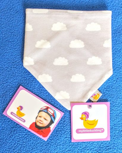 Grey Clouds Bib From My Little Duckling