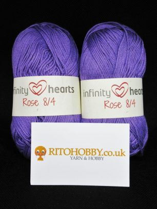 Infinity Hearts Rose 8/4 Yarn from Ritohobby