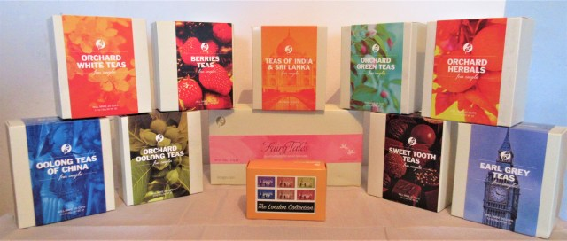 Selection of artisan teas from Adagio Teas