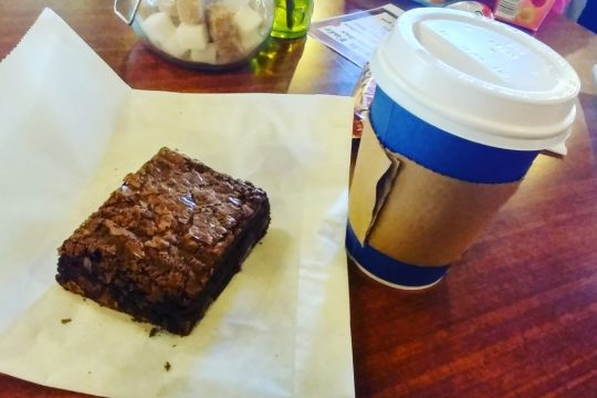 The Best Hot Chocolate and Brownie