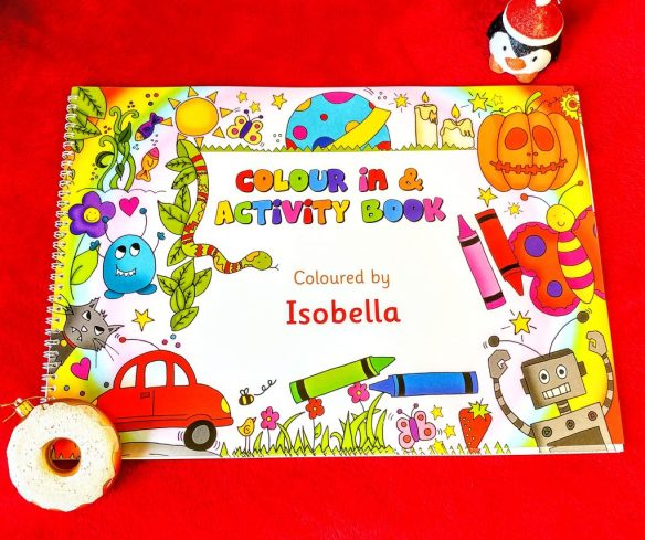 Personalised Colour In Activity Book A3