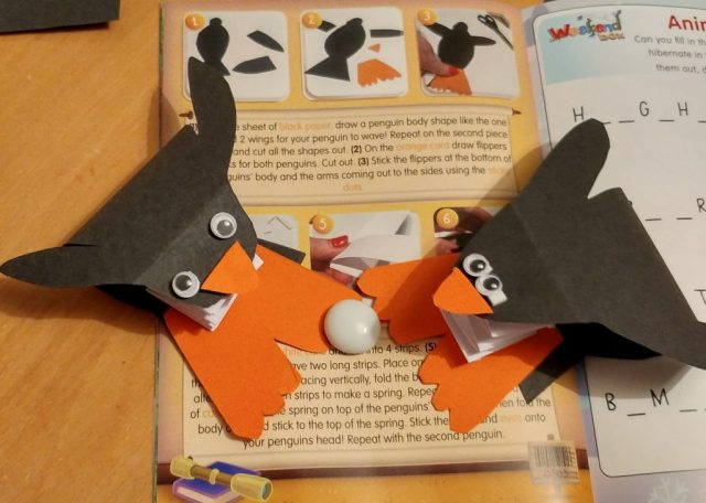 pop up penguin craft